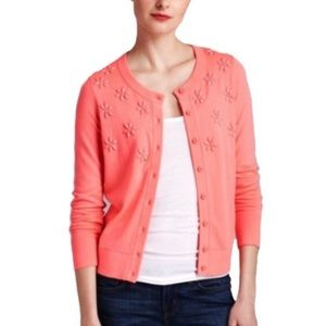 NEW Kate Spade Pink Coral Embellished Cardigan